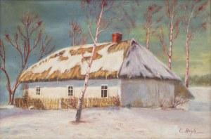 Edward Bryk (ur. 1923 w Zborówku - 1991 Kraków), Chata w zimie