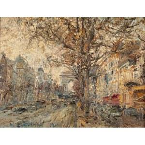 Włodzimierz Zakrzewski (1916 Petersburg - 1992 Warszawa), Paryż. Pola Elizejskie, 1967 r.