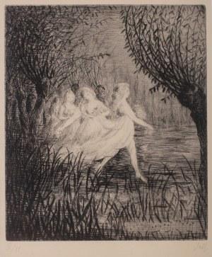 """Władysław Jahl (1886 Jarosław – 1953 Paryż), Nimfy wodne, z teki """"Chopin"""", 1949 r."""