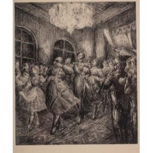 """Władysław Jahl (1886 Jarosław – 1953 Paryż), Polonez, z teki """"Chopin"""", 1949 r."""