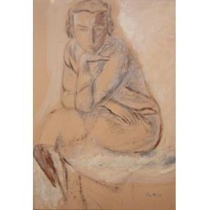 Leopold Gottlieb (1883 Drohobycz - 1934 Paryż), Siedząca (praca dwustronna)