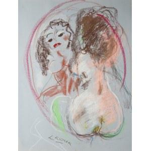 Ludwik Klimek (1912 Skoczów - 1992 Nicea), Akt z lustrem – Jestem piękna