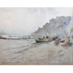 Henryk Baranowski (1932 Starogard Gdański - 2005 Gdynia), Łodzie na brzegu