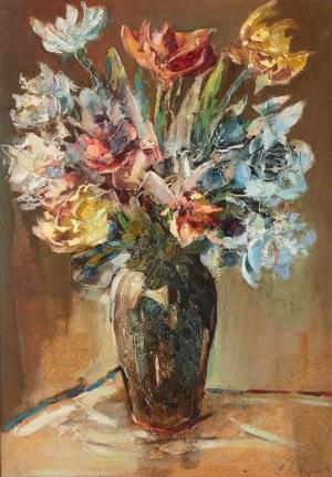 Zbigniew Litwin (1914 Stanisławowo na Podolu- 2001 Gdynia), Bukiet kwiatów w wazonie