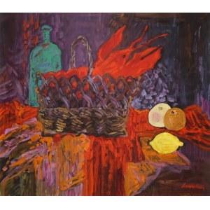 Jan Szancenbach (1928 Kraków - 1998 tamże), Martwa natura z rakiem, 1997 r.