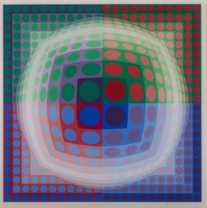 Victor Vasarely (1908 Pécs - 1997 Paryż), Bez tytułu