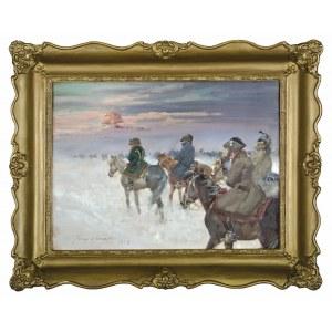 Jerzy KOSSAK (1886-1955), Wizja Napoleona w odwrocie spod Moskwy (1938)
