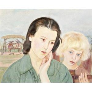 Wlastimil HOFMAN (1881-1970), Kobieta i anioł (1930)