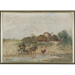 Adam SETKOWICZ (1876-1945), Przeprawa przez rzekę