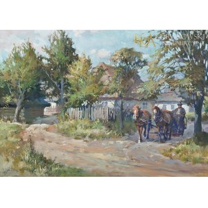 Juliusz SŁABIAK (1917-1973), Wyjazd z domu