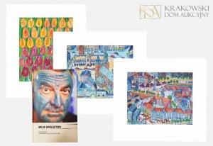 Edward DWURNIK (1943-2018), Kolekcjonerski zestaw trzech inkografii z książką Małgorzaty Czyńskiej Moje królestwo , opatrzoną autografem Edwarda Dwurnika