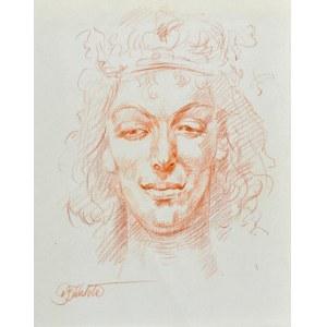 Dariusz KALETA Dariuss (Ur. 1960), Szkic głowy kobiety