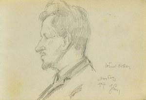 Józef PIENIĄŻEK (1888-1953), Portret Władysława Orkana w ujęciu z profilu