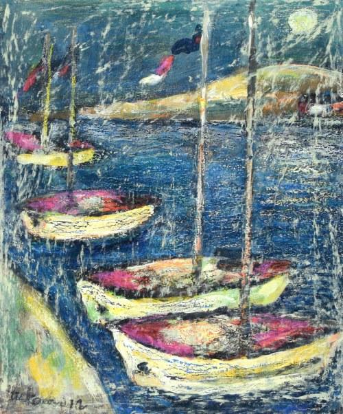 Eugeniusz TUKAN - WOLSKI (1928-2014), Łódki przy brzegu