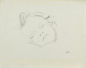 Wojciech WEISS (1875-1950), Buzia śpiącego dziecka