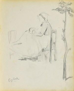Eugeniusz ZAK (1887-1926), Kobieta siedząca na krześle