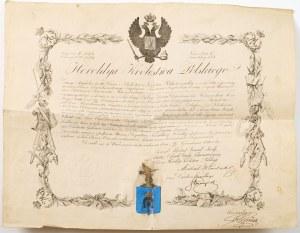 POTWIERDZENIE SZLACHECTWA, 24.11.1847