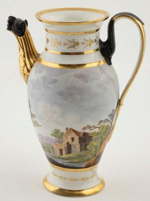 DZBANEK DO KAWY I IMBRYK DO ZAPARZANIA HERBATY, Turyngia, Kloster Veilsdorf (?), ok. 1820