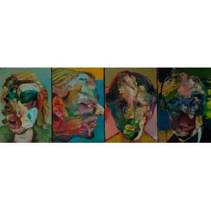 Tomasz Tobolewski (ur. 1973), Portret pamięciowy, zestaw 4 prac, 2021
