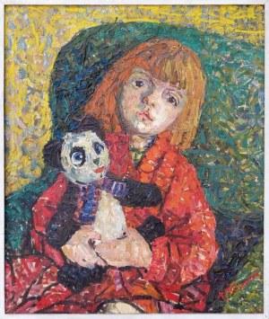 Teodozja Młynarska, Portret z miśkiem, 1959