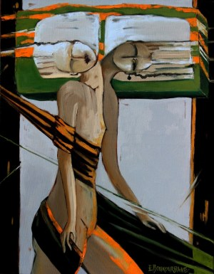 Elżbieta Boukourbane (ur. 1958), Obserwacja myśli własnych, 2021