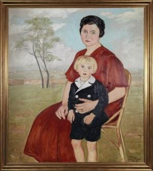 Wlastimil HOFMAN (1881-1970), Portret rodzinny - matka z synem, 1934