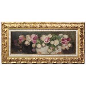 Alfons KARPIŃSKI (1875-1961), Róże białe i amarantowe