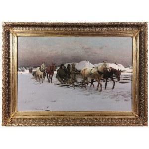 Michał Gorstkin WYWIÓRSKI (1861-1926), Zima - Powrót z polowania