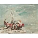 Marian MOKWA (1889-1987), Praca przy kutrze