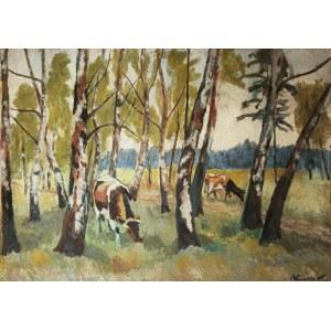 Stanisław KAMOCKI (1875-1944), Krówki w lesie