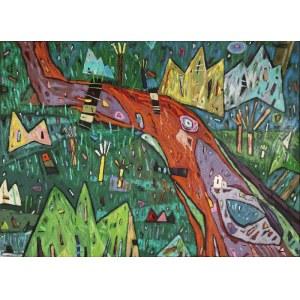Małgorzata JENTA-DMITRUK (ur. 1959), Po drugiej stronie rzeki, 1997