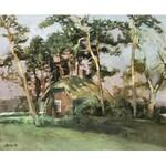 Jan WOŁEK (ur. 1954), Domek wśród drzew, 1991