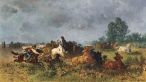 Adam Franz, KONIE NA PUSZCIE, 1880