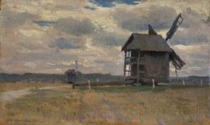 Stanisławski Jan, PEJZAŻ Z WIATRAKAMI, OK. 1900