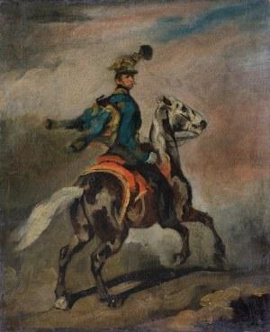 Michałowski Piotr, BŁĘKITNY HUZAR, HUZAR AUSTRIACKI NA KONIU, 1836