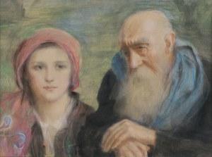 Axentowicz Teodor, STAROŚĆ I MŁODOŚĆ – AUTOPORTRET, OK. 1935