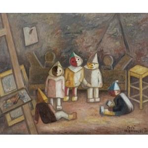 Makowski Tadeusz, MODELIKI W PRACOWNI, 1930