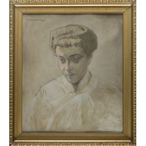 Piotr STACHIEWICZ, Portret kobiety - szkic
