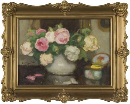 Alfons KARPIŃSKI, Róże w wazonie