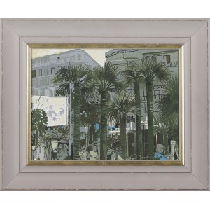 Andrzej BOROWSKI, Palm trees in Cannes II, 2019