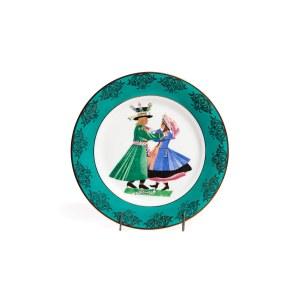 Zestaw 3 talerzy dekoracyjnych z tańcami polskimi Z. Stryjeńskiej: Kujawiak, Polka, Mazur