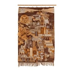 Tkanina dekoracyjna z panoramą miasta