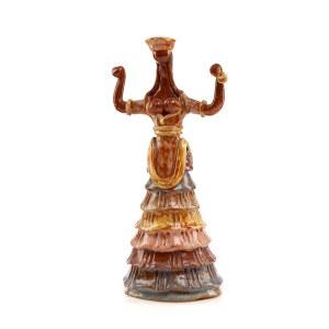 Bogini węży z pałacu Knossos na Krecie - inspiracja