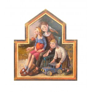 Dariusz Miliński ( 1957 ), Dziadek, babcia, Kacper kiedy byli młodzi, 2021
