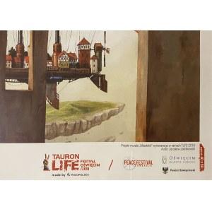 Jarosław Jaśnikowski ( 1976 ), Projekt murala  Miastolot , 2018