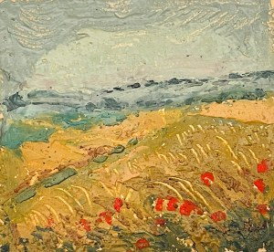 KAZIMIERZ WIKTOR HOLLER(1881-1975), Pejzaż z makami