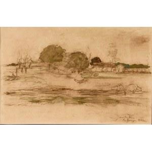 Jan Cybis(1897-1972), Wiejski pejzaż