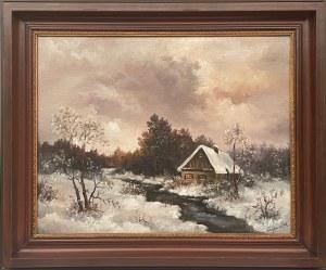 A.Trojanowska, Pejzaż zimowy