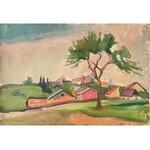 Jan Bednarski(1891-1956),Wioska w południowej Francji