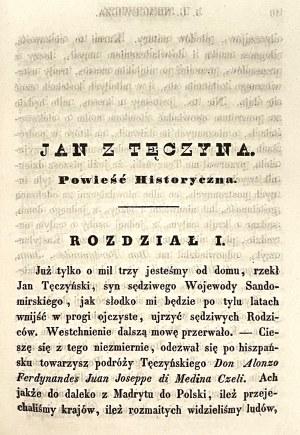 Julian Ursyn Niemcewicz,''Jan z TĘCZYNA''